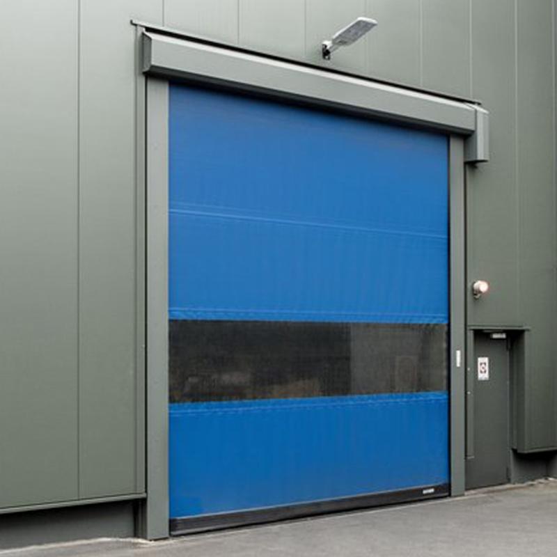 Geruisloze snelloopdeur voor in- en externe doorgangen met veel wind