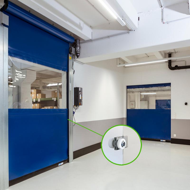 Flexibele binnendeuren S2010-SEL+gesealde-windzekering