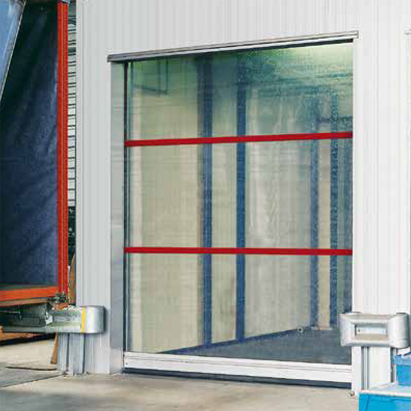 flexibele buitendeuren met volledig transparant deurblad